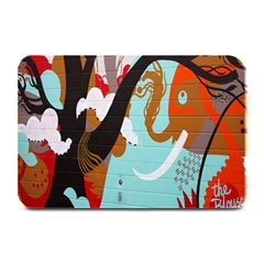Colorful Graffiti In Amsterdam Plate Mats by Simbadda
