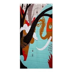 Colorful Graffiti In Amsterdam Shower Curtain 36  X 72  (stall)  by Simbadda