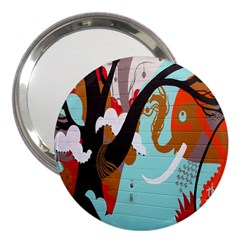 Colorful Graffiti In Amsterdam 3  Handbag Mirrors by Simbadda