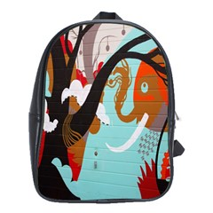 Colorful Graffiti In Amsterdam School Bags (xl)  by Simbadda