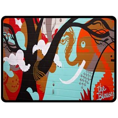 Colorful Graffiti In Amsterdam Double Sided Fleece Blanket (large)  by Simbadda