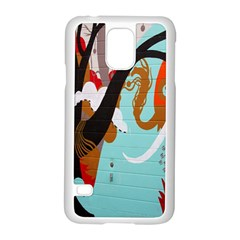Colorful Graffiti In Amsterdam Samsung Galaxy S5 Case (white) by Simbadda