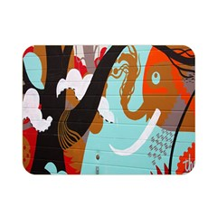 Colorful Graffiti In Amsterdam Double Sided Flano Blanket (mini)  by Simbadda