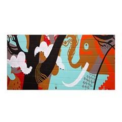 Colorful Graffiti In Amsterdam Satin Wrap by Simbadda