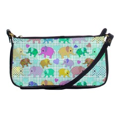 Cute Elephants  Shoulder Clutch Bags by Valentinaart
