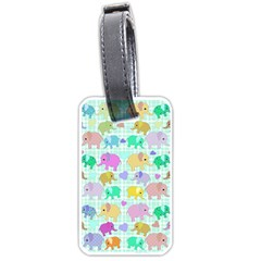 Cute Elephants  Luggage Tags (one Side)  by Valentinaart