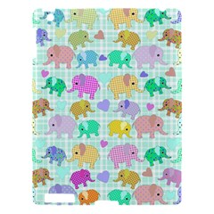 Cute Elephants  Apple Ipad 3/4 Hardshell Case by Valentinaart