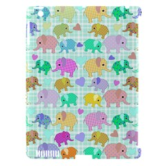 Cute Elephants  Apple Ipad 3/4 Hardshell Case (compatible With Smart Cover) by Valentinaart