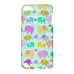 Cute Elephants  Apple Ipod Touch 5 Hardshell Case by Valentinaart