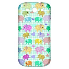 Cute Elephants  Samsung Galaxy S3 S Iii Classic Hardshell Back Case by Valentinaart