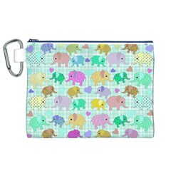 Cute Elephants  Canvas Cosmetic Bag (xl) by Valentinaart
