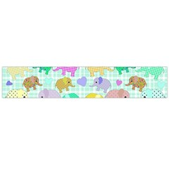 Cute Elephants  Flano Scarf (large)