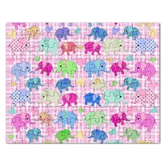 Cute Elephants  Rectangular Jigsaw Puzzl by Valentinaart