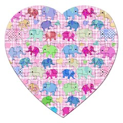 Cute Elephants  Jigsaw Puzzle (heart) by Valentinaart