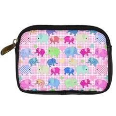 Cute Elephants  Digital Camera Cases by Valentinaart