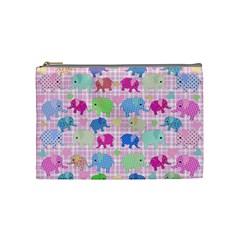 Cute Elephants  Cosmetic Bag (medium)  by Valentinaart