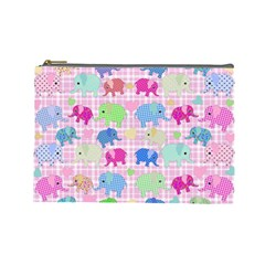 Cute Elephants  Cosmetic Bag (large)  by Valentinaart