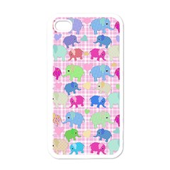 Cute Elephants  Apple Iphone 4 Case (white) by Valentinaart
