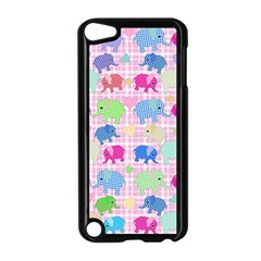 Cute Elephants  Apple Ipod Touch 5 Case (black) by Valentinaart