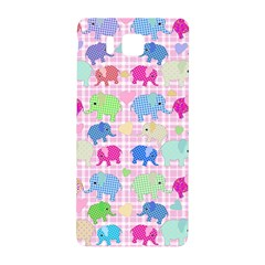 Cute Elephants  Samsung Galaxy Alpha Hardshell Back Case by Valentinaart