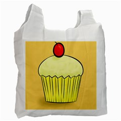 Cake Bread Pie Cerry Recycle Bag (one Side) by Alisyart