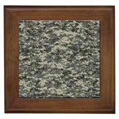 Us Army Digital Camouflage Pattern Framed Tiles