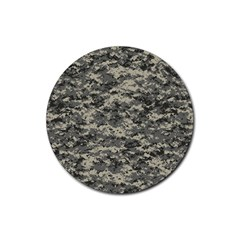 Us Army Digital Camouflage Pattern Rubber Coaster (round)  by Simbadda