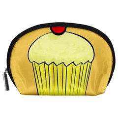 Cake Bread Pie Cerry Accessory Pouches (large)  by Alisyart