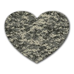 Us Army Digital Camouflage Pattern Heart Mousepads by Simbadda