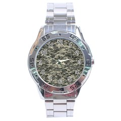 Us Army Digital Camouflage Pattern Stainless Steel Analogue Watch by Simbadda