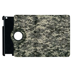 Us Army Digital Camouflage Pattern Apple Ipad 3/4 Flip 360 Case by Simbadda