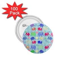 Cute Elephants  1 75  Buttons (100 Pack)  by Valentinaart