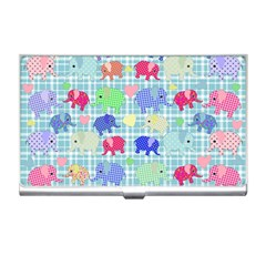 Cute Elephants  Business Card Holders by Valentinaart