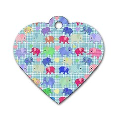 Cute Elephants  Dog Tag Heart (two Sides) by Valentinaart
