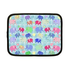 Cute Elephants  Netbook Case (small)  by Valentinaart