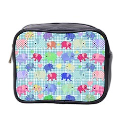 Cute Elephants  Mini Toiletries Bag 2 Side by Valentinaart