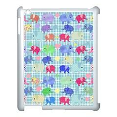 Cute Elephants  Apple Ipad 3/4 Case (white) by Valentinaart