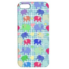 Cute Elephants  Apple Iphone 5 Hardshell Case With Stand by Valentinaart