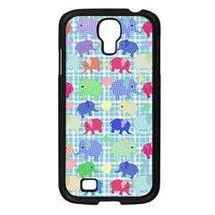 Cute Elephants  Samsung Galaxy S4 I9500/ I9505 Case (black) by Valentinaart