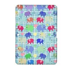 Cute Elephants  Samsung Galaxy Tab 2 (10 1 ) P5100 Hardshell Case  by Valentinaart