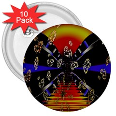 Diamond Manufacture 3  Buttons (10 Pack)  by Simbadda