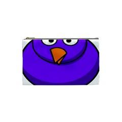 Cartoon Bird Purple Cosmetic Bag (small)  by Alisyart