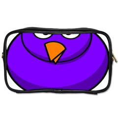 Cartoon Bird Purple Toiletries Bags by Alisyart