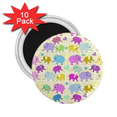 Cute Elephants  2 25  Magnets (10 Pack)  by Valentinaart
