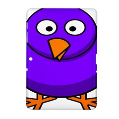 Cartoon Bird Purple Samsung Galaxy Tab 2 (10 1 ) P5100 Hardshell Case  by Alisyart