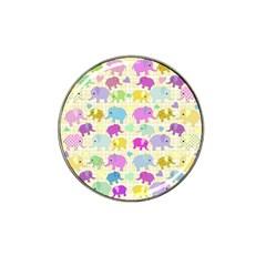 Cute Elephants  Hat Clip Ball Marker by Valentinaart