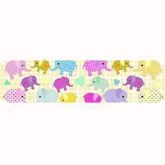 Cute Elephants  Large Bar Mats by Valentinaart
