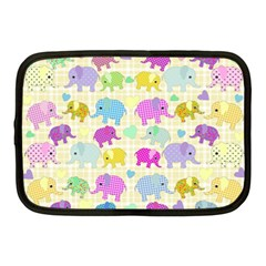 Cute Elephants  Netbook Case (medium)  by Valentinaart