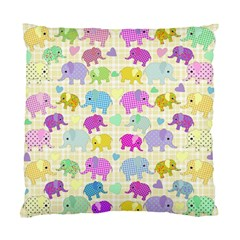 Cute Elephants  Standard Cushion Case (two Sides) by Valentinaart