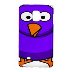 Cartoon Bird Purple Galaxy Note Edge by Alisyart